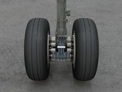 Airbus A320 main landing gear (WIP) landing c4d cinema 4d redshift a320 airbus airliner plane jet airplane aircraft