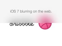 iOS 7 blurring using CSS