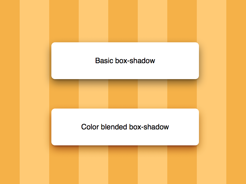 Color blended box-shadow [CodePen/CSS] by Rik Schennink on