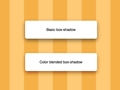 Color blended box-shadow [CodePen/CSS] natural saturation shadows mix-blend-mode box-shadow css