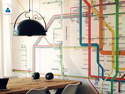 [Affinity Designer] Subway map wallpaper map wallpaper designer affinity subway