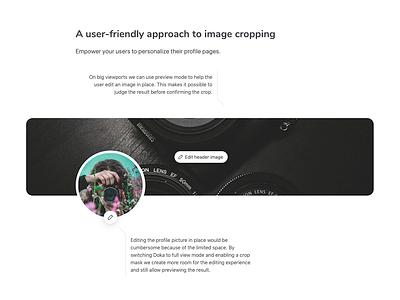 Doka.js Profile Edit demo rotate cropping cropper crop photo file javascript edit image