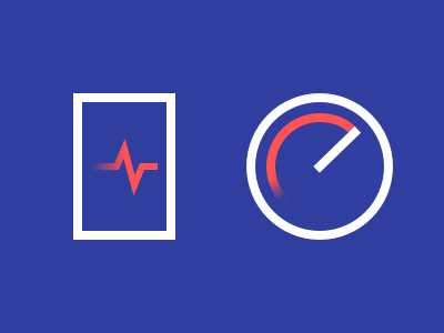 Device health and device speed icons line icons icons speed health performance diagnostics