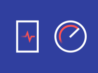 Device health and device speed icons