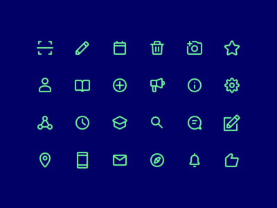 Icon Set For Mobile App app mobile iconography interface icons user ui lines outline icon
