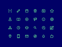 Icon Set For Mobile App
