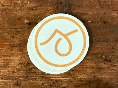 Custom stickers logotype marketing word mark icon logo identity branding sticker
