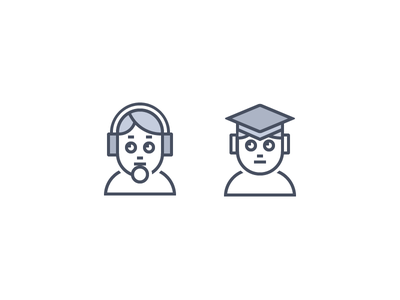 Avatar Style student customer service profile headshots characters avatars