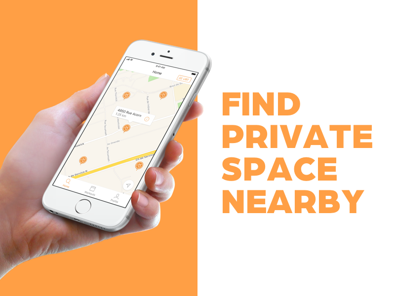 Find private space nearby