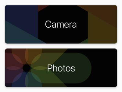 Buttons for a camera app ios ui load photos app photos camera
