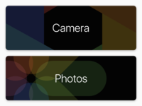 Buttons for a camera app