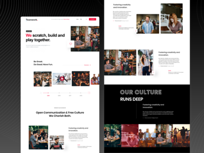 Our Culture Landing Page