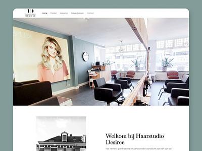 Haarstudio Desiree modern dutch netherlands haarstudio desiree salon hairdresser hair digital branding site website web design ux ui