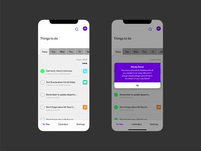 Concept Design Screens designer application ui design branding product webdesign mobile design mobile app mobile interaction design userinteraction user interface design user experience userinterface app design app to do list to do app