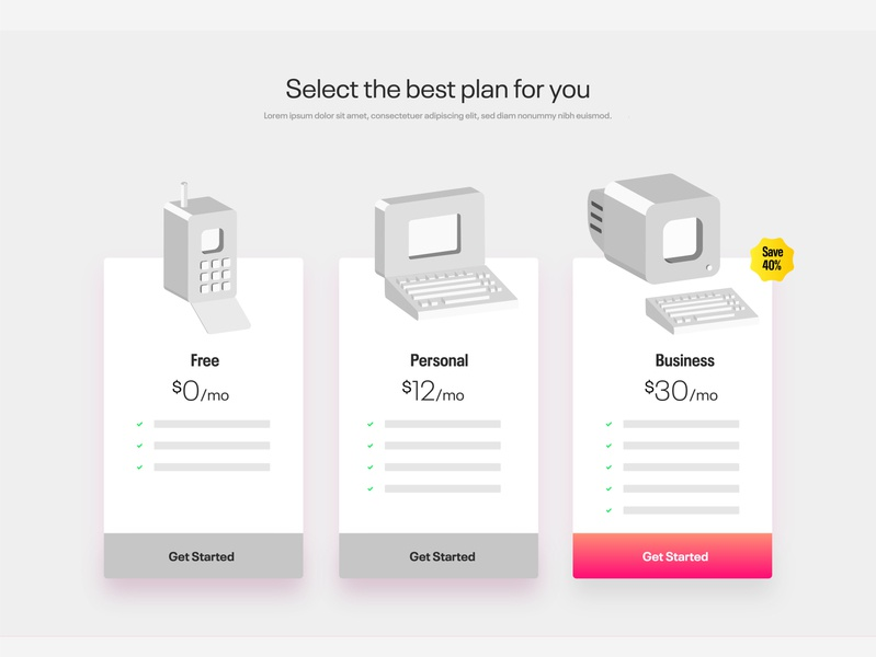 Subscription Plans Page subscriptions plans payment page icons product webdesign web illustration illustrator payment plan payment ui interactiondesign interaction design user experience designer user experience design userinterface user interface user interface design user experience