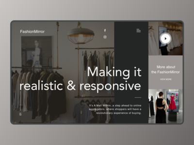 FashionMirror fashion website branding redesign ui deisgn landing design website