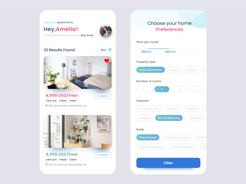 Home Search App 🏝 home search app home search app home app ui design rooms hotels app design clean ui hotel booking redesign design rental app ux uiux