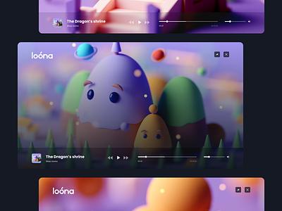 loona app - redesign concept #3 sleep calm ios mobile app ui ux app branding design creative clean concept web