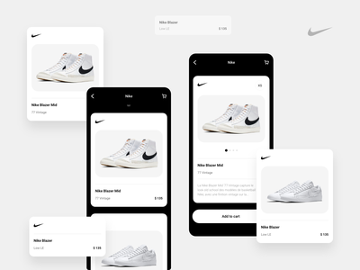 Nike Concept   Product Card App ui design ui  ux ecommerce shop ecommerce app ecommerce shop nike animation mobile android ios ui ux app design creative clean branding concept web