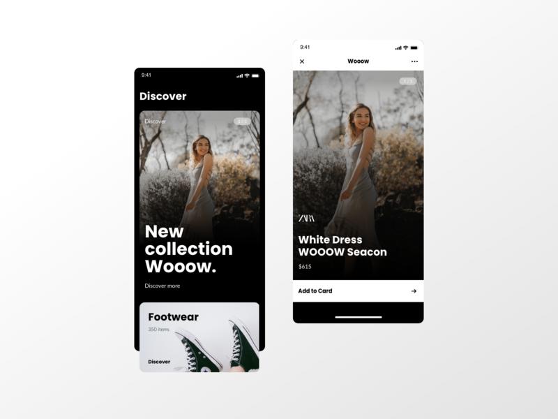 E-commerce App | ZARA Concept black modern motion app design mobile minimalism white ecommerce app ecommerce zara mobile app adobe xd ui ux app creative clean branding concept web