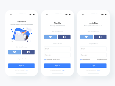 Login and Sign Up Page (Free download) Adobe XD dashboad crypto mobile app free download sign up screen creative branding concept clean android mobile ios free adobe xd web vector ux ui design app