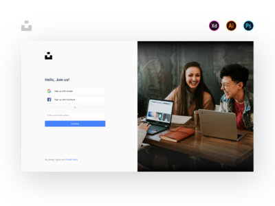 Unsplash: Concept Login Page
