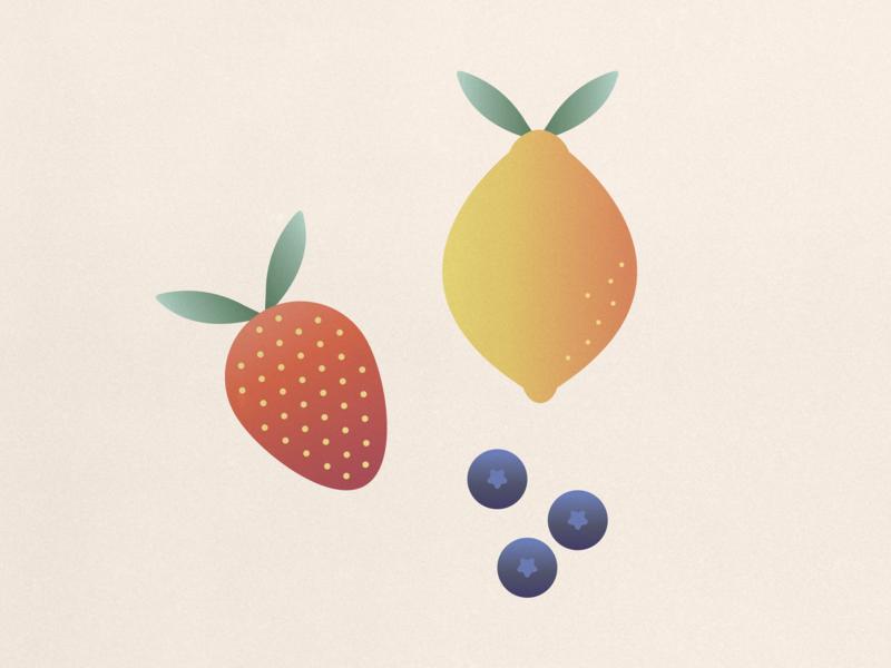 fruits food illustration food lemon blueberry strawberry fruit illustration fruits fruit flat illustration illustration