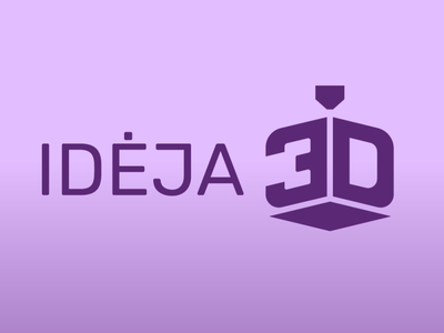 Idėja 3D logo for 3D printing company