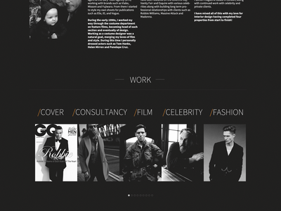 Marcus Love Personal Stylist one pager dark stylist