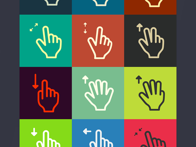 Righteous gestures - free gestures set (ai, psd, png) gesture source icon vector gestures freebie icons ui ux wireframes