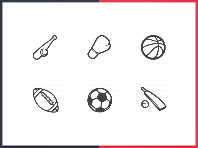 Sports Icons rugby basebal boxing basketball cricket football sports sport icons icon