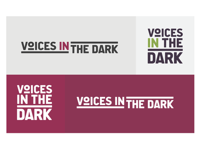 Voices in the Dark Podcast logo branding logo