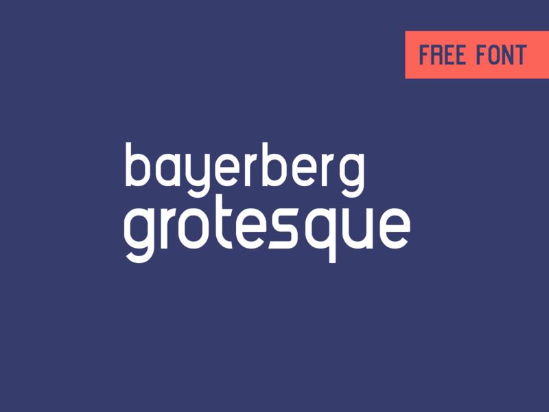 Bayerberg Grotesque - Free font