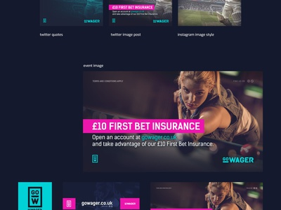 GoWager 2019 social media branding sportsbook casino design webdesign interface ui
