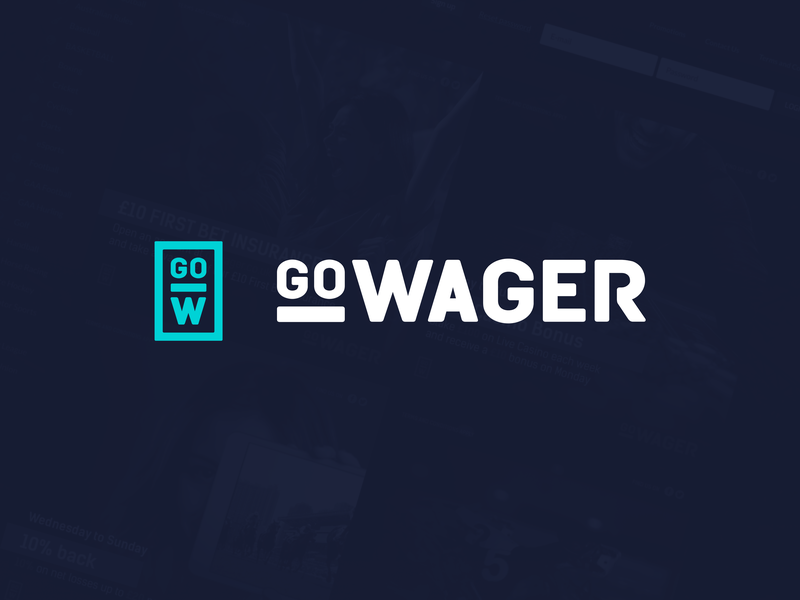 GoWager 2019 social media branding sportsbook casino design webdesign interface ui