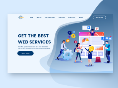 Web services web illustrator app uiux design