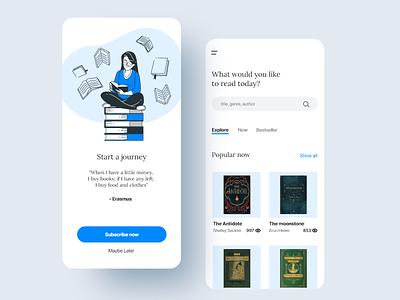 A Book App graphics userinterface adobexd interface design uiux uxdesign uidesign ux ui mobile design mobile app mobile ui appdesign book