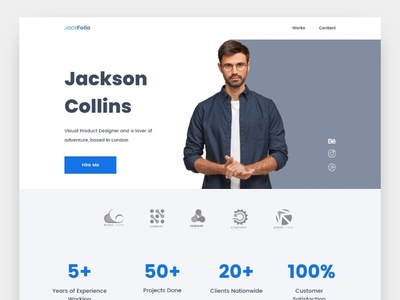 Portfolio website landing page portfolio appdesign uiuxdesign uxdesign app uidesign design uiux ux ui