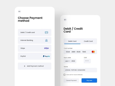 Credit card design minimal payment appdesign paypal credit card app uidesign design uiux ux ui