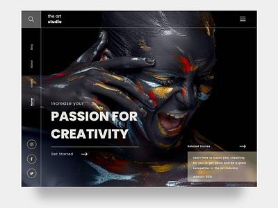 Art blog design uxdesign webdesign website web glass minimal clean artblog creative art blog uidesign uiux ux ui
