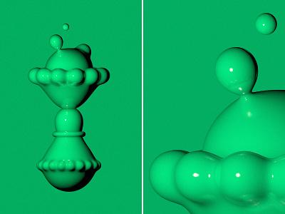 Green shape c4d42 3d illustration illustration metaball sculpture 3d art 3d cinema 4d cinema4d green