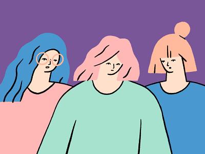 Girls who run the world girl character go girl girl boss girls power femine girls girl girl illustration pink colors design character illustration