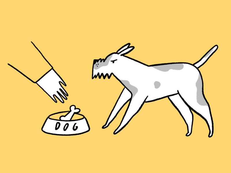 Angry Dog magazine illustration yellow dog illustration dog colors design character illustration