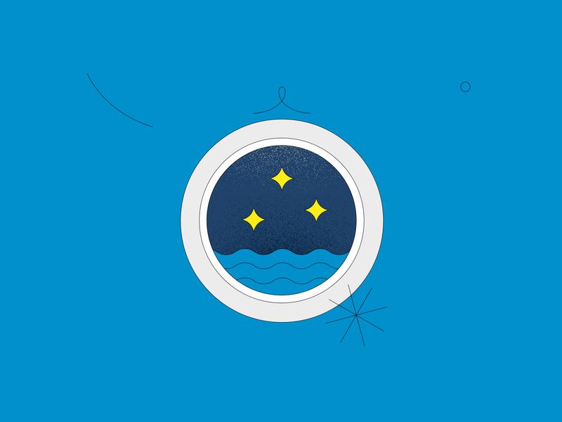 Window | 02 line night sky sky night water window illustration circle window illustration