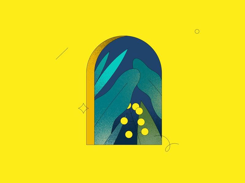 Window | 03 dissolve yellow nature plants plant window illustration window line illustration