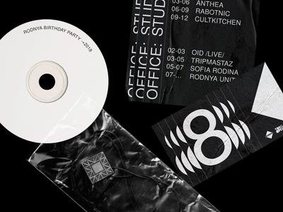 Party Identity rodnya music poster techno 8 typography identity design cd party poster party identity