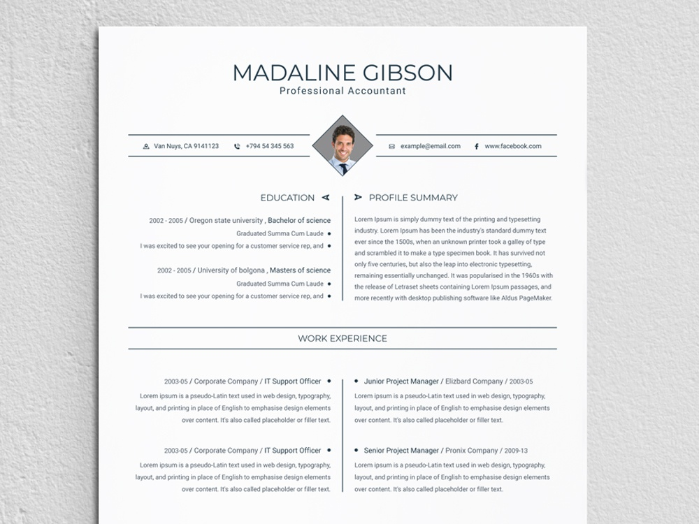Resume By ResumeDeviser On Dribbble