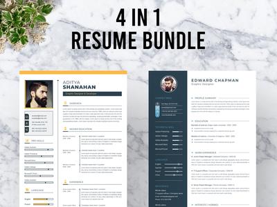 Resume Bundle indesign elegant a4 modern cv clean clean resume professional resume professional modern resume elegant resume