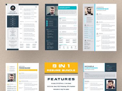 Resume Bundle resume cv resume clean cv clean cv template clean resume a4 professional modern resume elegant resume