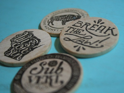 """Wooden Nickel Business """"Cards"""""""
